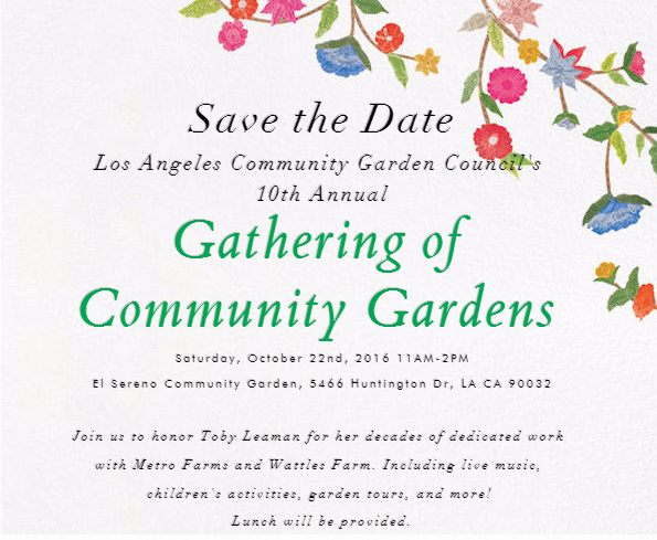 10th Annual Gathering of Community Gardens