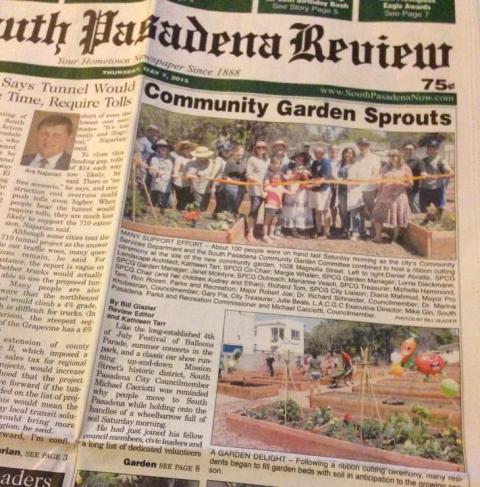 South Pasadena Community Garden is Open!