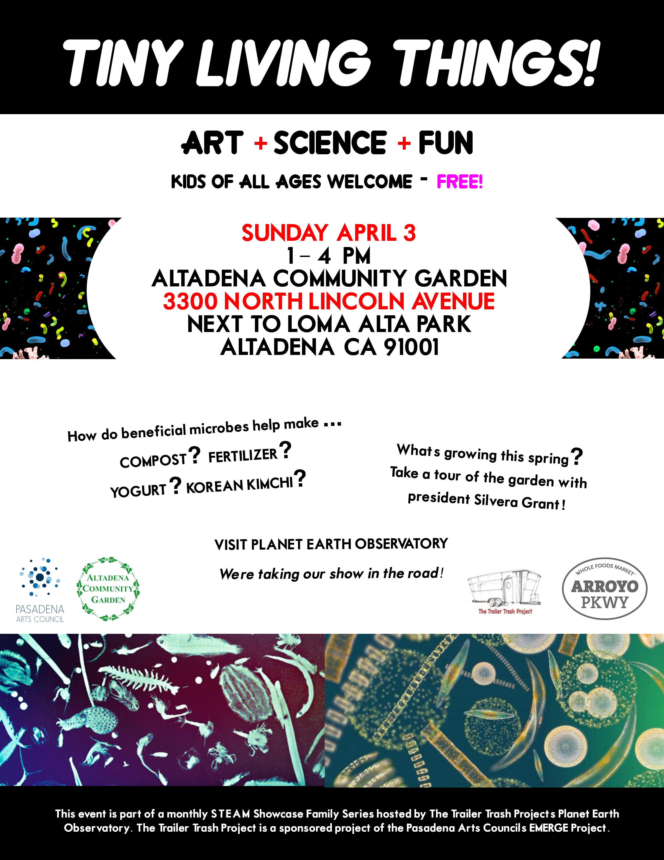 Tiny Living Things: Art + Science + Fun - Los Angeles Community