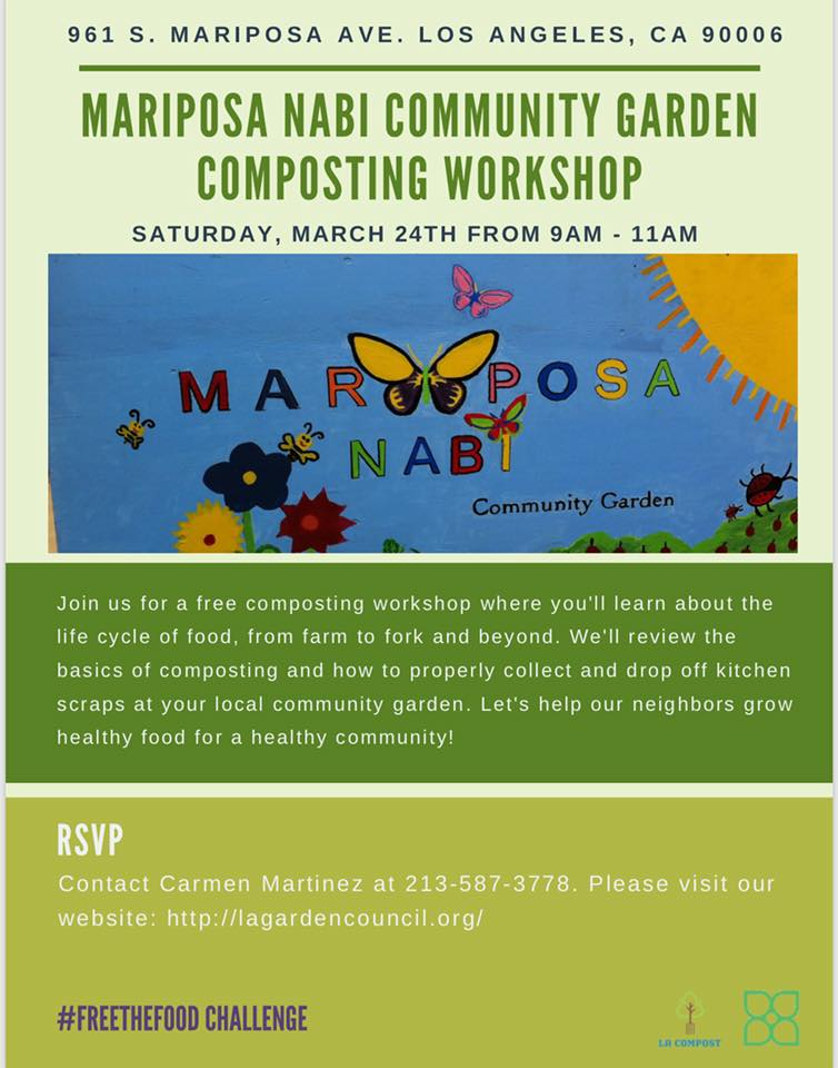 FREE Composting Workshop at Mariposa Nabi Community Garden - Los ...
