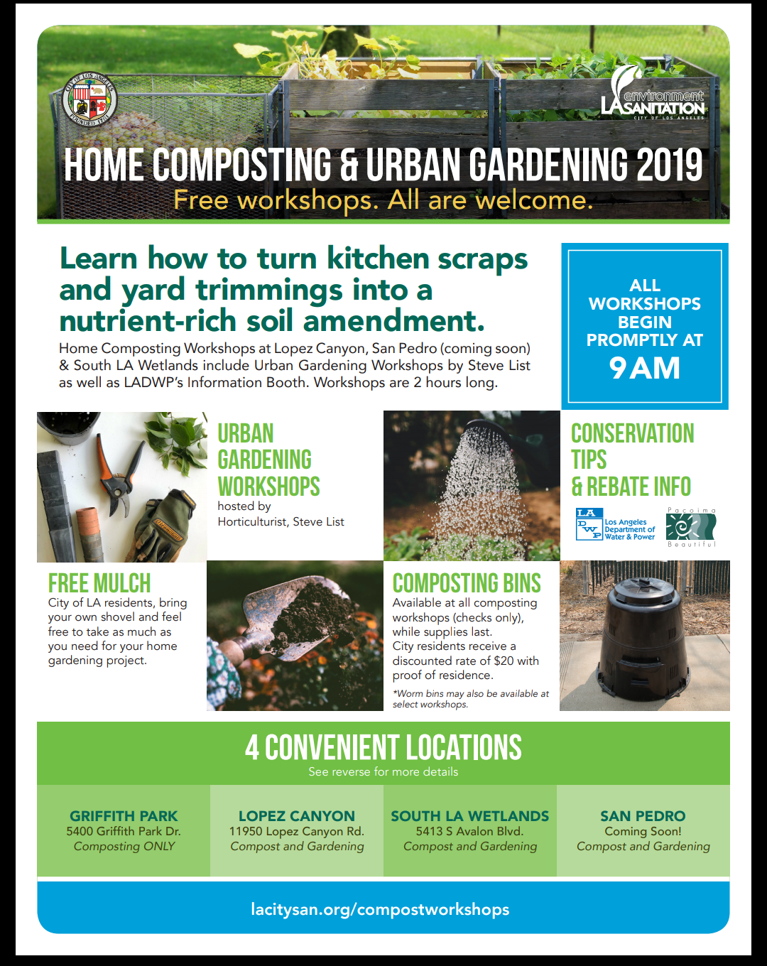 Home Composting and Urban Gardening 2019 - Los Angeles